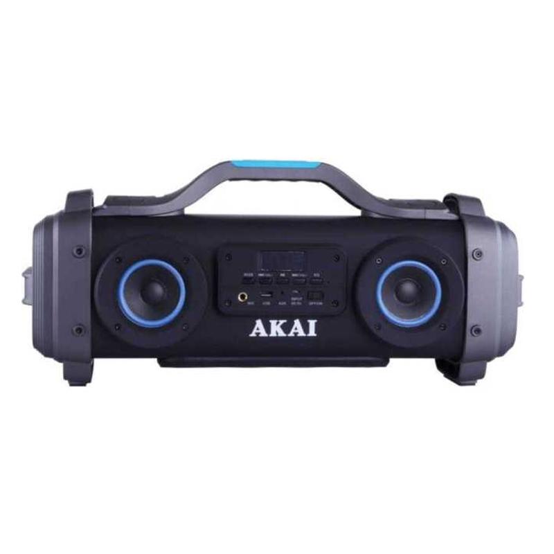 Boxa portabila bluetooth Akai, 4 x difuzor Super Blaster, functie Karaoke, USB, Aux-in, acumulator 2021 shopu.ro
