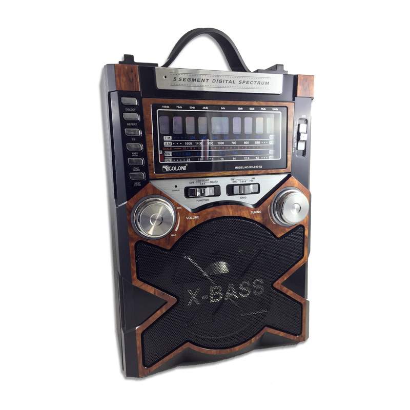 Boxa portabila bluetooth Golon RX-BT21, USB/ SD/ AUX/BT/ FM, acumulator 2021 shopu.ro