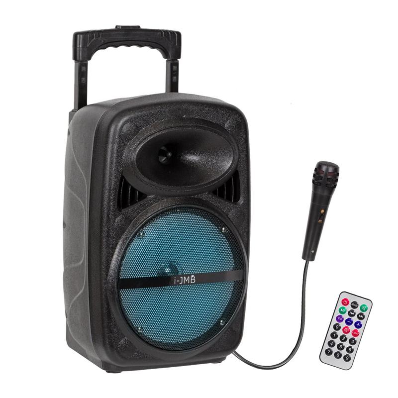Boxa portabila bluetooth i-JMB, 20 W, USB/TF/FM, 10 m, 3600 mAh, compatibil MP3 2021 shopu.ro