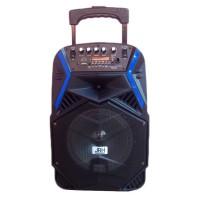 Boxa portabila tip troler JRH A81, 1800 mAh, USB, microfon wireless