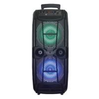 Boxa portabila tip troler Lige 2806, 200 W, ecran LCD, USB, radio FM, acumulator, microfon, telecomanda
