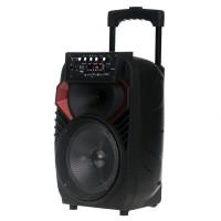 Boxa tip troler JRH A82, 300 W, 1800 mAh, USB, microfon wireless