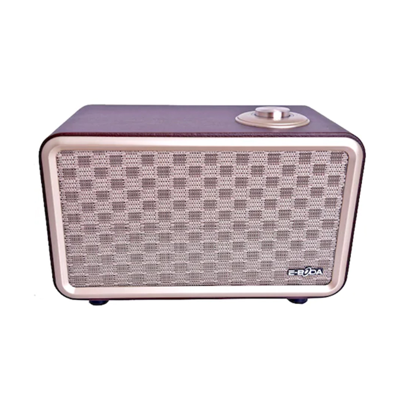 Boxa audio Retro Vibe 100 E-Boda, 24 W, 2 x 2200 mAh, lemn/piele ecologica, bluetooth 4.2 2021 shopu.ro