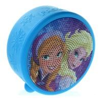 Boxa portabila Frozen Elsa & Anna Licentiate, autonomie 3-4 h, raza actiune 10 m, Bluetooth 4.0, Albastru