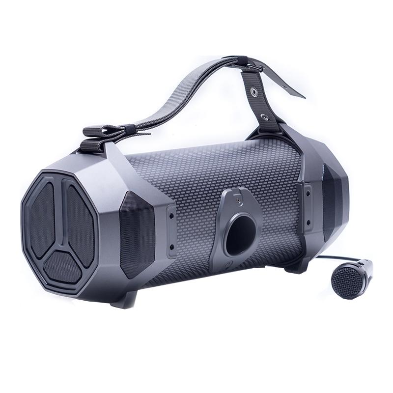Boxa portabila The Vibe 400 Karaoke E-Boda, 23 W, 3600 mAh, Bluetooth, USB, AUX, microfon inclus, Negru 2021 shopu.ro