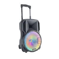Boxa portabila iluminata LED, 35 W, 1800 mAh, 10 inch, jack 3.5 mm, USB/SD/BT/FM, microfon inclus