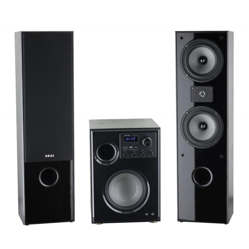 Boxe active bluetooth 2.1 Akai, 60 W, 89 dB, 4 Ohm, functie karaoke, USB, suport cardSD 2021 shopu.ro