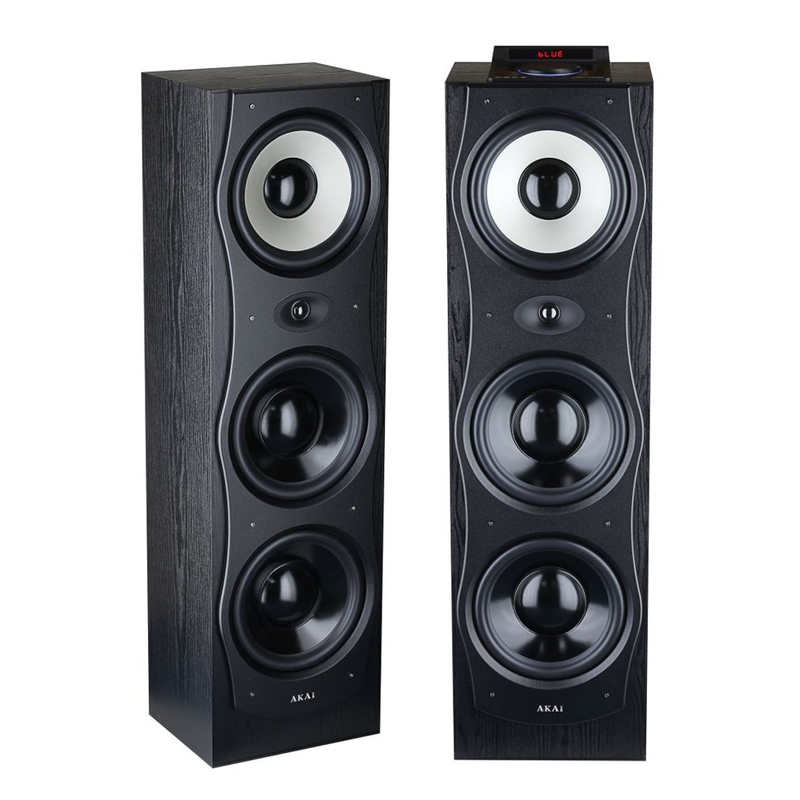 Boxe active bluetooth Akai, 4 Ohm, player USB, tuner FM, sistem karaoke, telecomanda 2021 shopu.ro