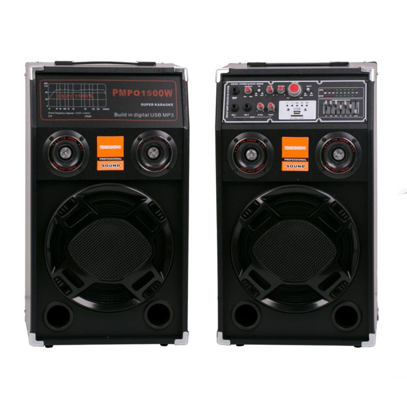 Boxe active cu bluetooth Geepas 284, USB, radio, microfon