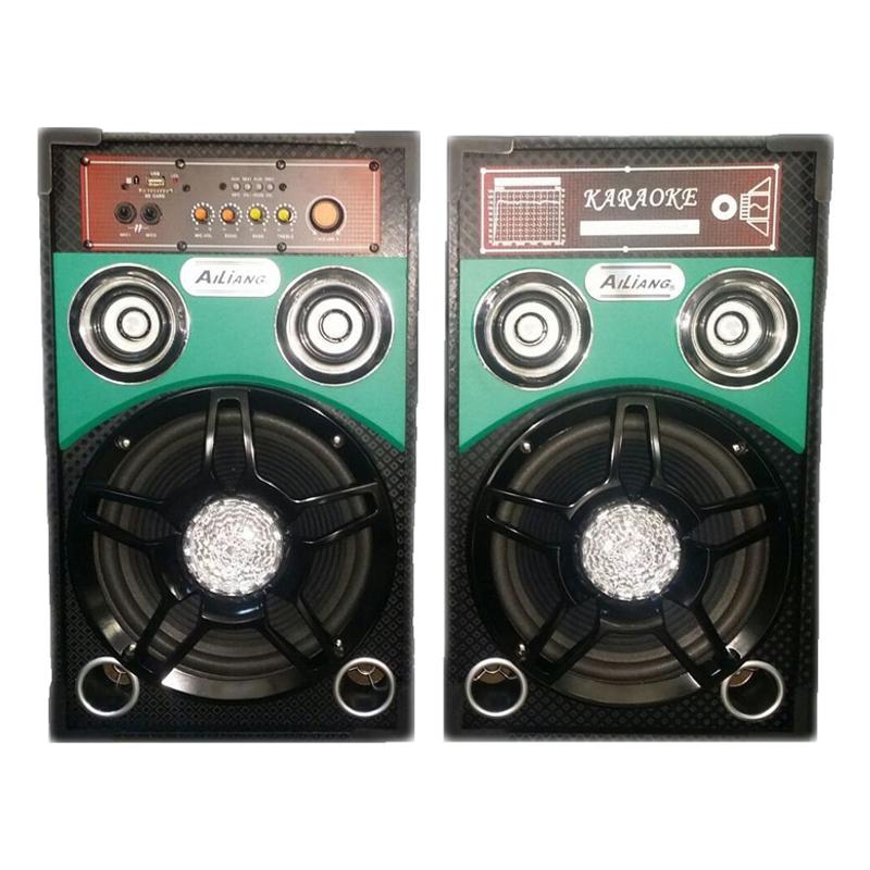 Boxe active Ailiang 198F-DT, USB, suport card SD MMC, lumini LED 2021 shopu.ro