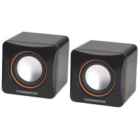 Boxe multimedia 2.0 Manhattan, USB, 2x3 W, negru