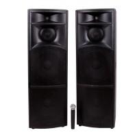 Boxe profesionale active Vlliodor 2020, 2 x 400 W, Bluetooth, microfon inclus