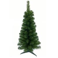 Brad verde 90 de crengute, 90 cm, suport inclus