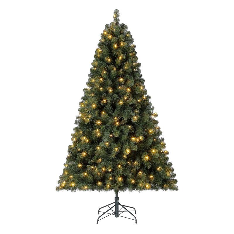 Brad verde cu luminite, 802 crengute, 1.83 m, suport inclus shopu.ro