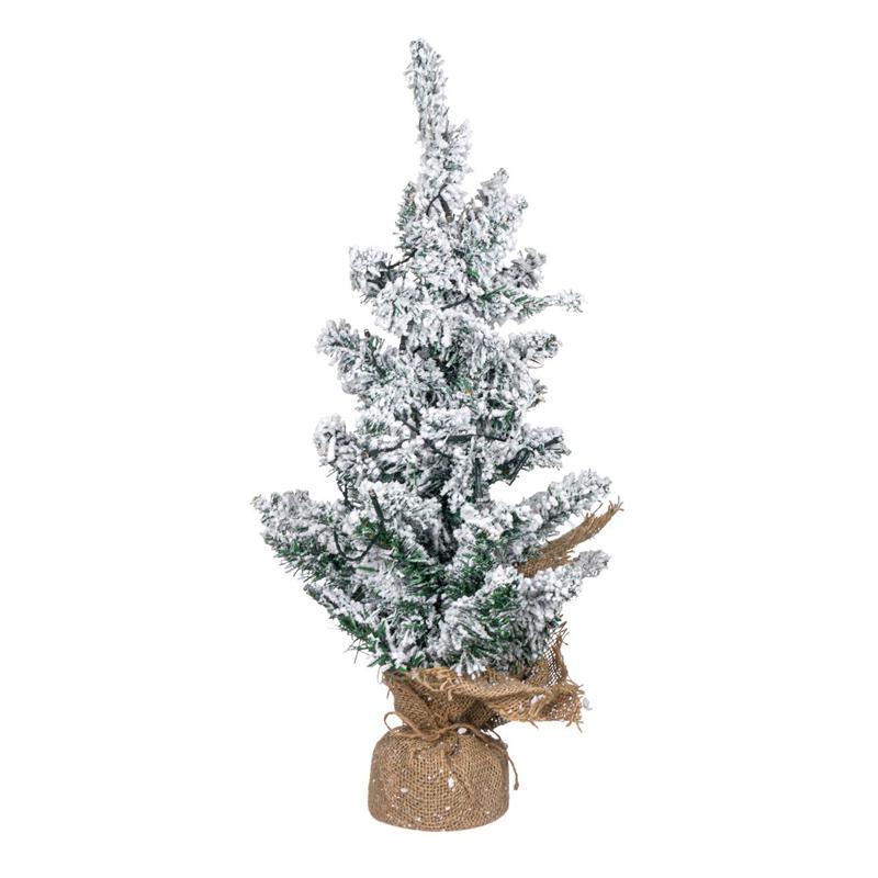 Brad verde nins, 20 x LED, inaltime 50 cm, lumina calda, suport panza 2021 shopu.ro