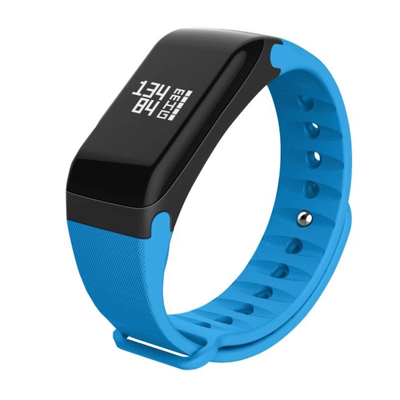 Bratara inteligenta bluetooth R3, 80 Ah, calorii, distanta, memento apel/mesaj, albastru 2021 shopu.ro