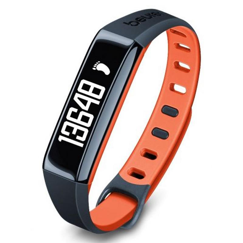 Bratara monitorizare activitate fizica Beurer AS80C, stocare 30 zile, portocaliu 2021 shopu.ro