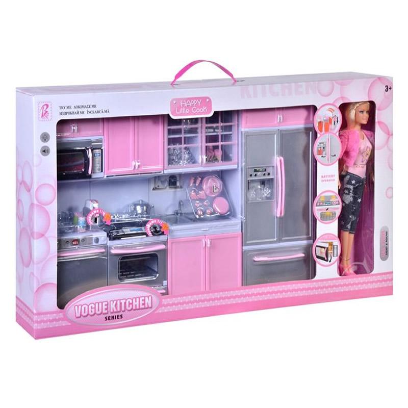 Bucatarie completa Modern Kitchen, papusa si accesorii incluse 2021 shopu.ro
