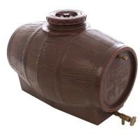Butoi plastic alimentar pentru vin Mantzaris, 90 litri, 42 cm, canea, aerisitor, capac incluse