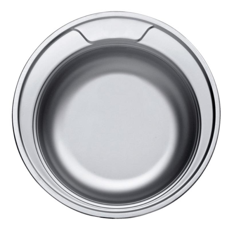 Chiuveta rotunda inox Sanitec, adancime 16 cm 2021 shopu.ro