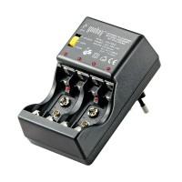 Incarcator universal acumulatori NiMH R3/R6/9V Goobay