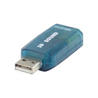 Adaptor sunet 3D Konig, USB, LED
