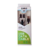 Cablu de date microUSB 3 in 1, adaptor tip C si lightning