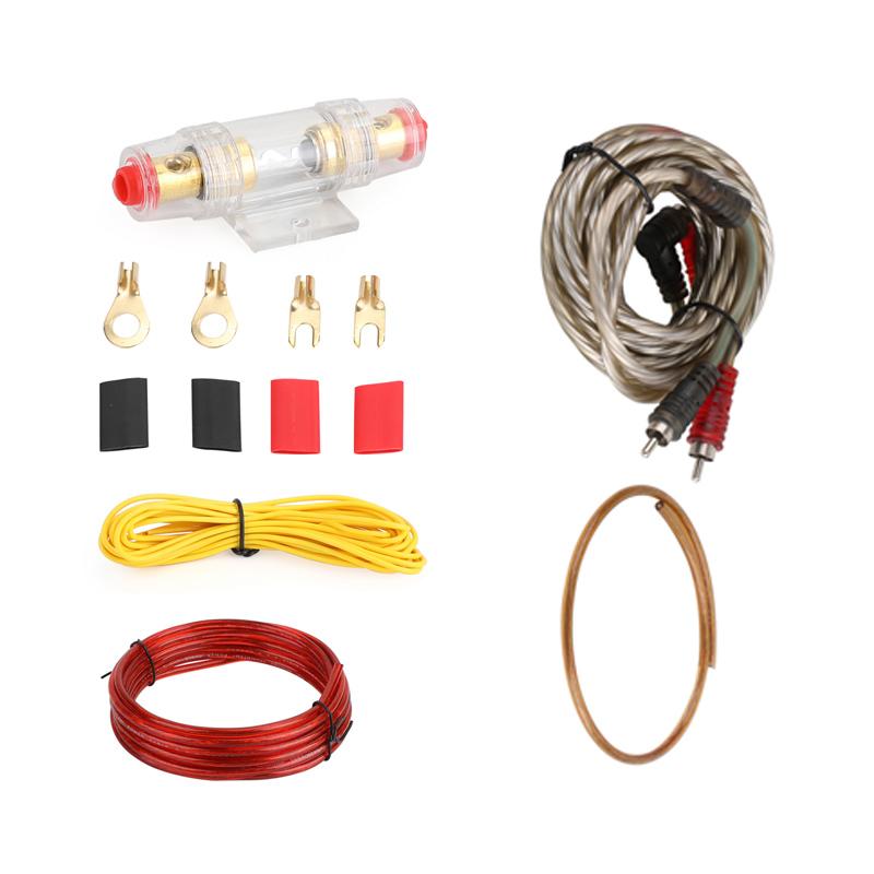 Set cabluri instalare subwoofer HTS MJ-8, 10 W, mufe incluse 2021 shopu.ro
