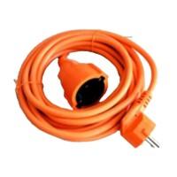 Cablu prelungitor Well, 20 m, 1.0 mm, IP20, Portocaliu
