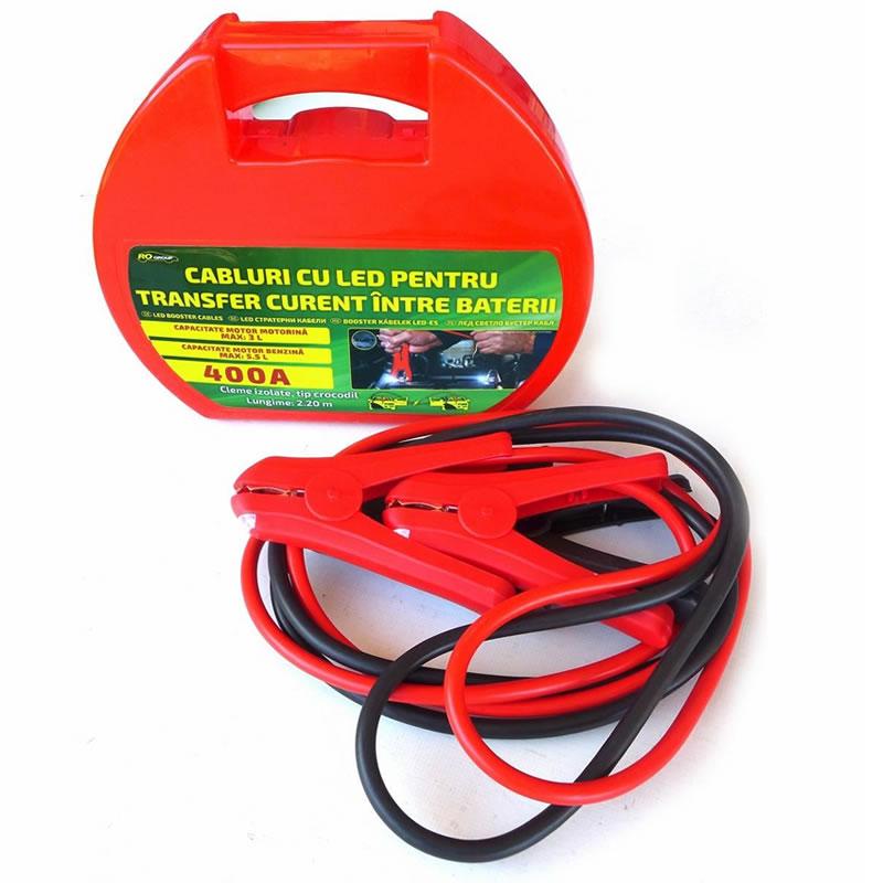Cabluri pornire auto Ro Group, LED, 400A 2021 shopu.ro