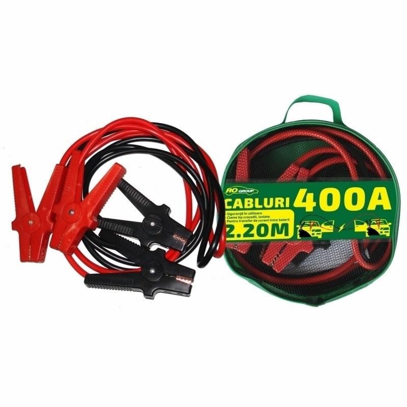 Cabluri transfer curent baterii RoGroup, 400 A, 2.2 m 2021 shopu.ro
