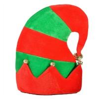 Caciula spiridus pentru copii, 28 cm, Rosu/Verde