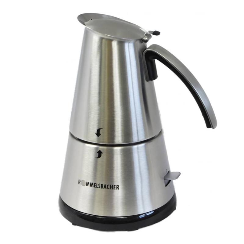 Espressor electric ElPresso mini, 365 W, tehnologie fara fir, Argintiu