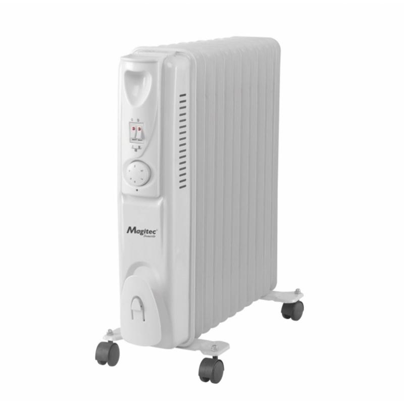 Calorifer electric pe ulei Magitec, 2000 W, 11 elementi, 3 trepte, Alb 2021 shopu.ro