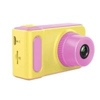 Camera digitala pentru copii On Vacation, 1080p, ecran LCD TFT, format JPG, Galben/Roz