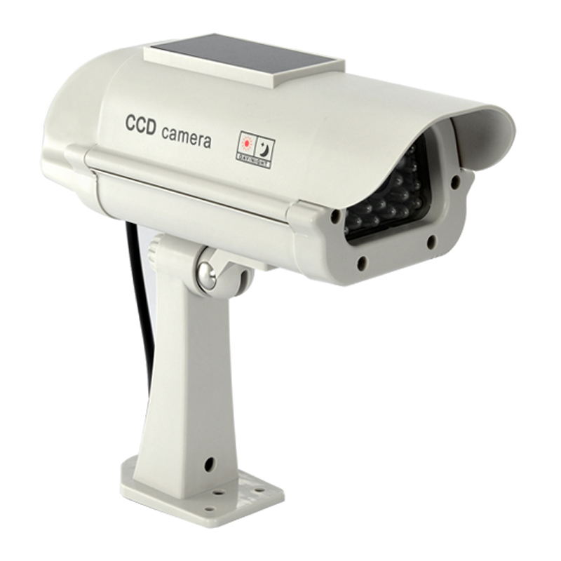 Camera solara falsa cu led intermitent Dummy Cam, 2 x AA 2021 shopu.ro