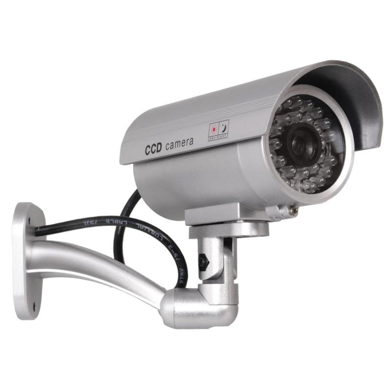 Camera supraveghere falsa dummy camera, ABS, 2 baterii AAA, Alb 2021 shopu.ro