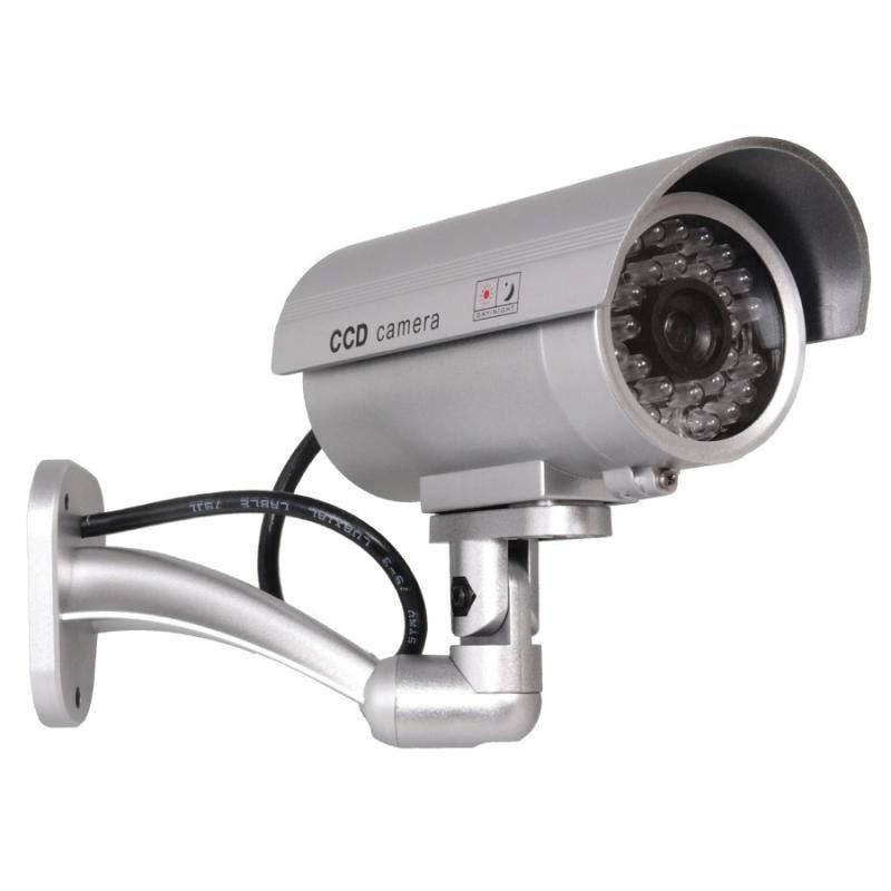 Camera supraveghere falsa dummy camera, ABS, 2 baterii AAA, Alb