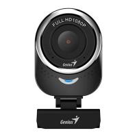 Camera Web Genius QCam, 1080 p, 2 Mp, USB, Full HD, microfon incorporat, Negru