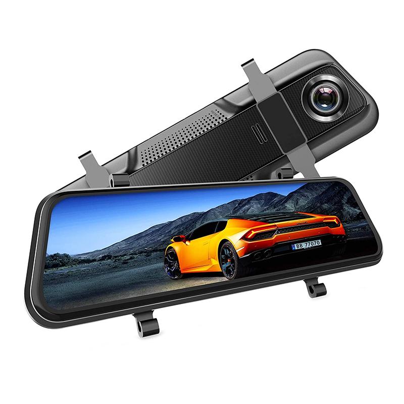 Camera auto DVR Dubla Oglinda VanTop, display 10 inch, FullHD, Touch-Screen, unghi 170 grade, G Senzor 2021 shopu.ro