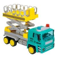 Jucarie camion cu platforma hidraulica Truck Repair, 34 cm, lumini si sunete, 3 ani+