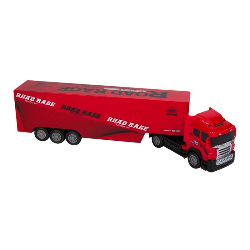 Camion tip transportor Heavy Truck, scara 1:32, sunete si lumini, telecomanda 2021 shopu.ro