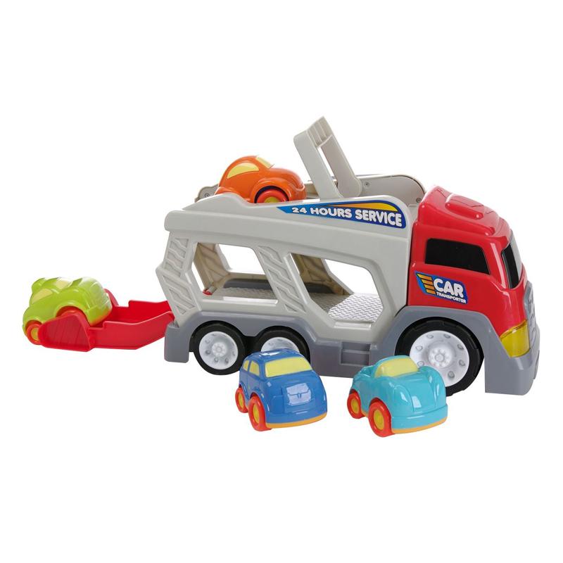 Camion transportor masini, 2 x AA, 4 vehicule incluse, 18 luni+ 2021 shopu.ro