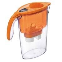 Cana de filtrare apa Laica, 2.3 l, Orange + 3 filtre + 2 pahare