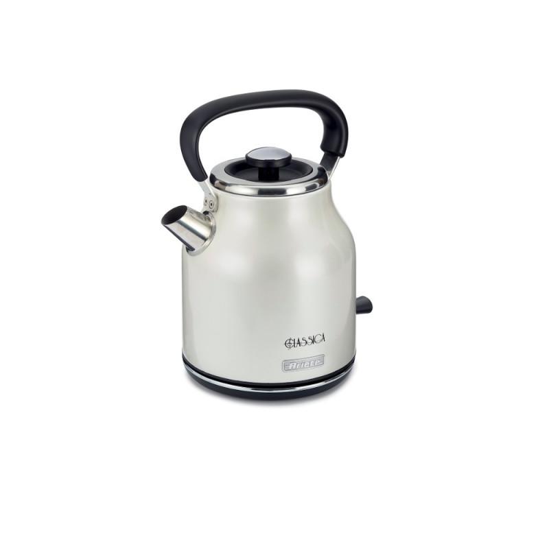 Cana electrica Ariete Classic, 2000 W, 1.7 L, filtru detasabil, oprire automata, baza rotativa, Argintiu 2021 shopu.ro
