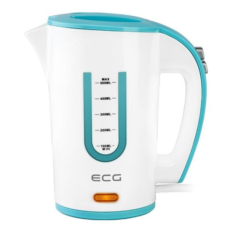 Cana electrica ECG, 1000 W, 0.5 L, 2 cupe incluse 2021 shopu.ro
