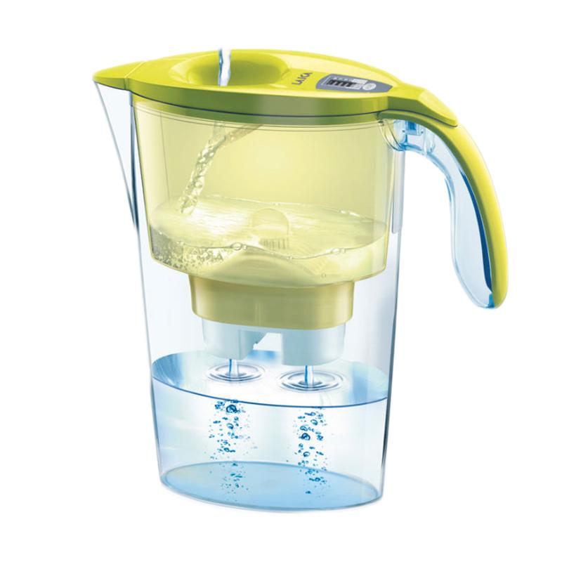 Cana filtranta de apa Laica Stream Yellow, 2.25 l, filtrare in 5 etape