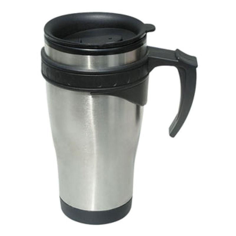 Cana termos inox Sapir, 450 ml, Argintiu 2021 shopu.ro