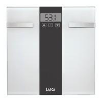 Cantar corporal Fat & Body Water Monitor Laica, 180 kg, ecran LCD, 3 x AAA, Alb/Negru