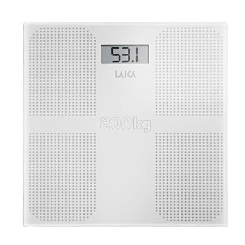 Cantar corporal Laica, 200 kg, ecran LCD, platforma sticla securizata 2021 shopu.ro
